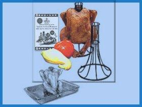 Image: The Spanek Vertical Chicken Roaster (Chrome)