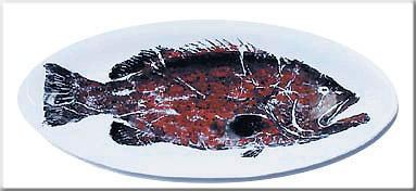 Image: Gregory Aragon Black Grouper — Large Gyotaku Platter