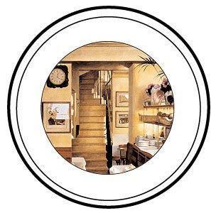 Image: Paris Restaurant Interiors - Dinner Plates - Set of 4