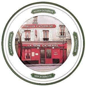 Image: Paris Cafés Dessert Plates - Set of 6