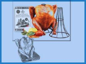 Image: The Spanek Vertical Turkey Roaster (Chrome)