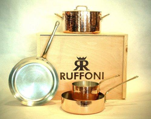 Image: Ruffoni 5-Piece Hand-Hammered Copper Cookware Set