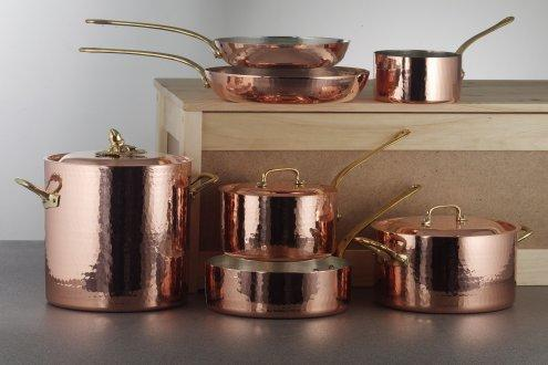 Image: Ruffoni 10-Piece Hand-Hammered Copper Cookware Set