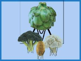 Image: The Spanek VertiChoke Vegetable Rack (Set of Four, Chrome)