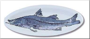 Image: Gregory Aragon Snook — Large Gyotaku Platter