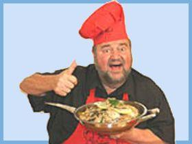 Image: Dom DeLuise: Thumbs up for this great recipe!